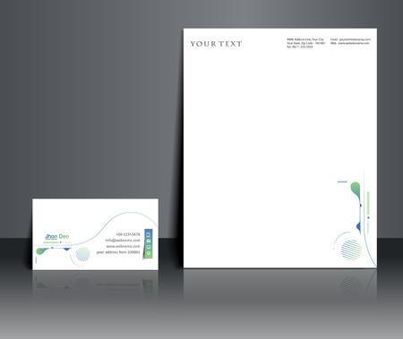 Diseño de conjunto de plantillas de identidad corporativa. Ilustración de vector de fondo abstracto. Ilustración de vector
