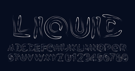 Modern Abstract Font  Set of Alphabet Text Design. Illustration