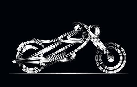 Motor Bike icon vector line art design. Vector illustration.