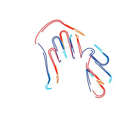 Symbol of Help Center, 3d Color line art ( RGB ) vector illustration. Illustration