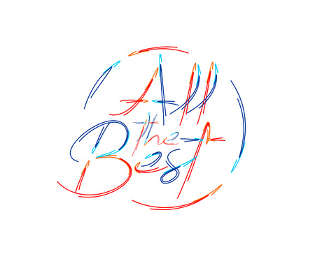 All the Best Calligraphic 3d Color line art ( RGB ) vector illustration. Vector Illustration