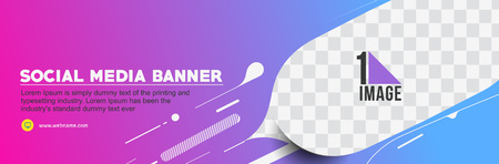 Social Media Banner design background. Use for modern design, cover, poster, template, brochure, decorated, flyer, Header banner.