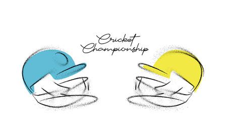 Creative helmet for Cricket Championship concept. vector illustration. Ilustração