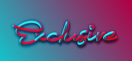 EXCLISIVE Calligraphic 3d Pipe Style Text Vector illustration Design