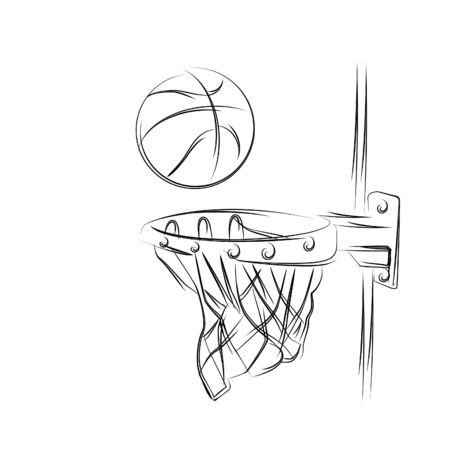 Basketball basket shot, hoop, game