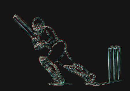 Concept of Batsman Playing Cricket
