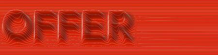 Special Offer, sale banner design outline icon abstract line pattern Ilustração