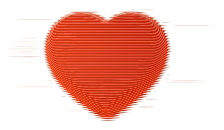 Abstract Flat line art Heart Icon. vector design.