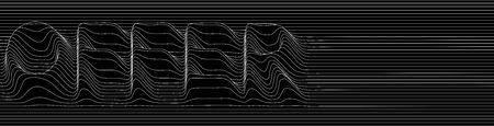 Special Offer, sale banner design outline icon abstract line pattern vector illustration. Иллюстрация