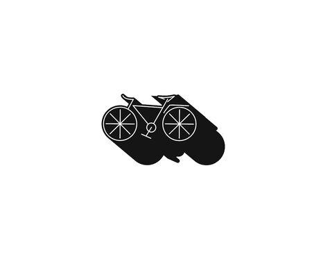 Modern Cycling Flat Line Art drawing, Vector Illustration.