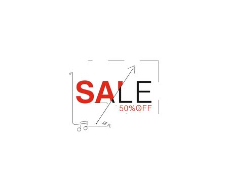 Sale text made of  vector design element. Use for modern design, cover, poster, template, brochure, decorated, flyer, banner.