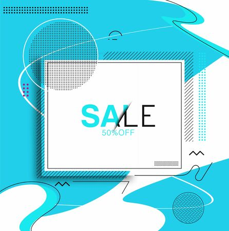 Abstract Colorful Sale Banner Design