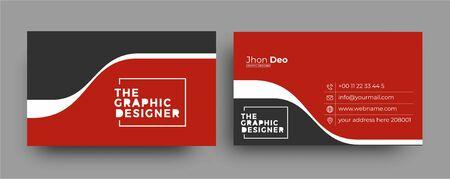 Business Card - Creative and Clean Modern Business Card Template. Zdjęcie Seryjne - 137565940
