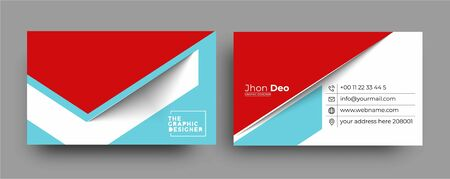Business Card - Creative and Clean Modern Business Card Template. Ilustracja