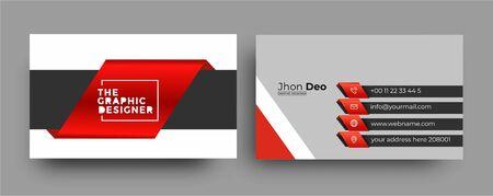 Business Card - Creative and Clean Modern Business Card Template. Zdjęcie Seryjne - 137582663