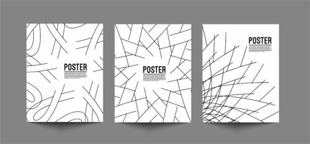 Flyer & Poster Cover Design in A4 Size Template Illustration.