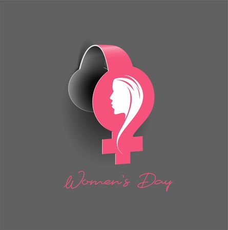 8 march Happy Women's Day Stylish Typography Text Zdjęcie Seryjne - 140164871