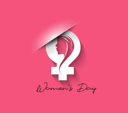 8 march Happy Womens Day Stylish Typography Text
