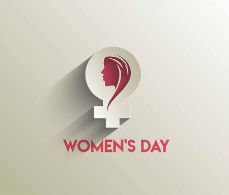 8 march Happy Women's Day Stylish Typography Text