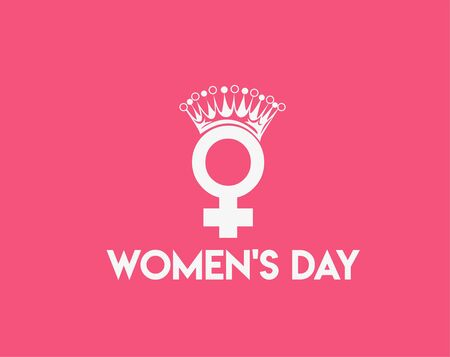 8 march Happy Women's Day Typography Text.