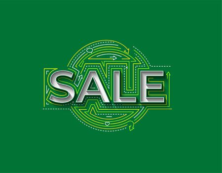 Sale Calligraphic 3d Style Text shopping poster vector illustration Design.