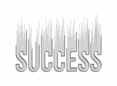 Success Calligraphic 3d Style Text shopping poster vector illustration Design.