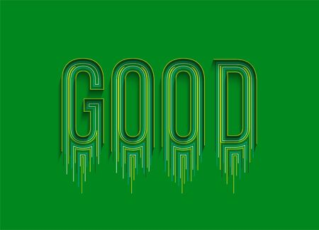 Good Calligraphic line art Text Vector illustration Design. Vektorové ilustrace