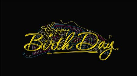 Happy Birthday typography vector design for greeting cards and poster, design template for birthday celebration Illustration