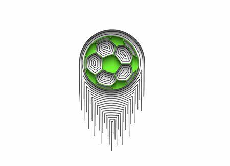 Football icon art abstract flat line pattern vector illustration. Иллюстрация