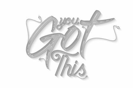 Got This Calligraphic Line art Text Poster vector illustration Design.