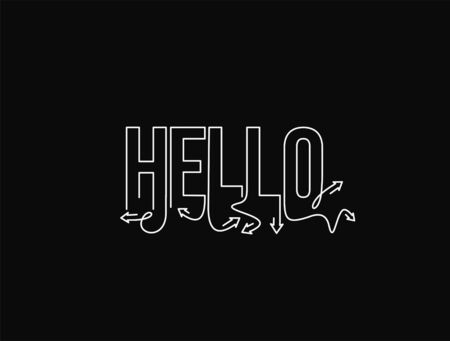 Hello typography vector design for greeting cards and poster, design template for birthday celebration