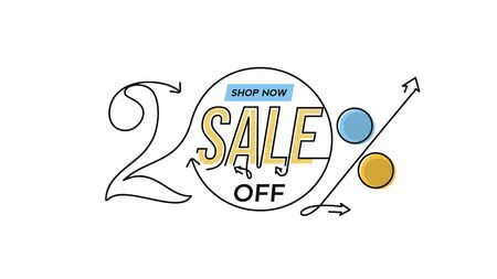 20% OFF Sale Discount Banner. Discount offer price tag.  Vector Modern Sticker Illustration. 写真素材 - 150548767