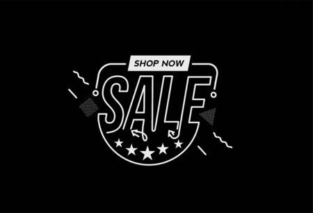 Sale Discount Banner. Discount offer price tag.  Vector Modern Sticker Illustration. Ilustrace