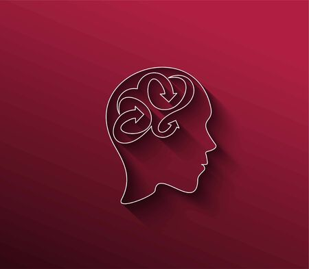 Symbol of Creative Brain, isolated vector abstract design