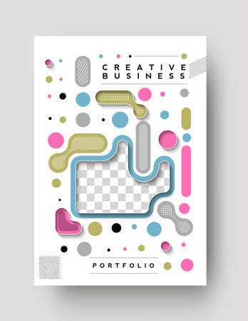 Brochure, flyer, magazine cover page & poster template, vector illustration.