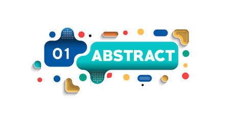 Abstract banner poster with space of your text, vector illustration Design shapes.