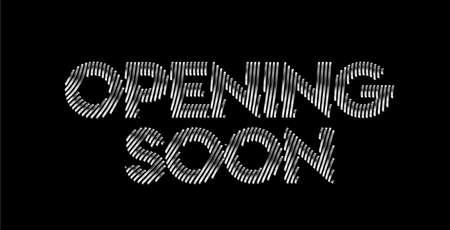 Opening Soon Calligraphic Silver Style Text Vector illustration Design.