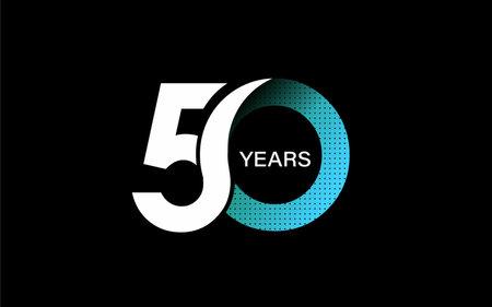50th Years Anniversary Celebration Vector Design.