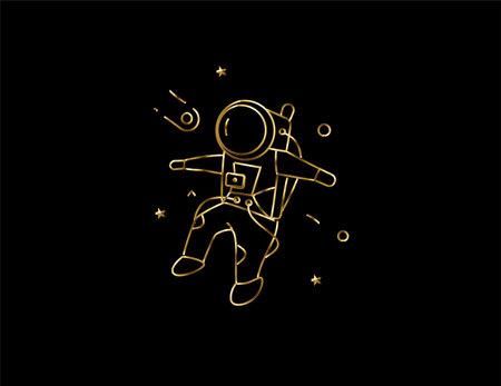 Astronaut in spacesuit icon, Vector Design illustration.