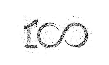 Particle 100 hundred point text vector Vector Design.