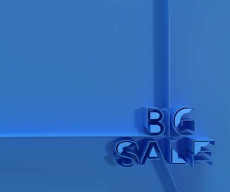 3D Render Big Sale Text. 3D illustration Graphic Design. Banco de Imagens