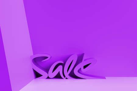 3D Render Sale Text. 3D illustration Graphic Design.