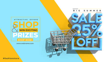 Super Sale 25% Off Digital Marketing Horizontal Banner Template. Foto de archivo