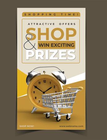 Shopping Time Digital Marketing Banner Template.