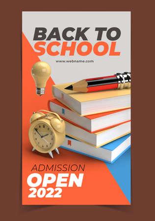 Back to School Digital Marketing Banner Template.