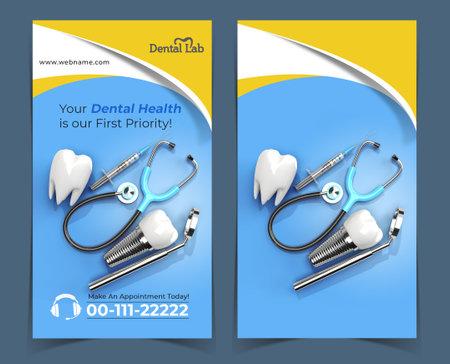 Dental Implants Surgery Concept Banner Template.