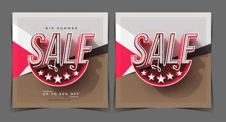 Big Summer Sale Digital Marketing Banner Template.