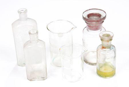 burette: profesional medicine set on white background