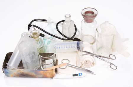 profesional: profesional medicine set on white background