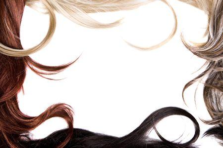 textura pelo: hermosa y brillante marco de un cabello sano Foto de archivo